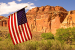 Waterpocket Fold and the American Flag, Capitol Reef National Park, Utah