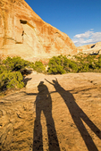 Hiker Shadow on Golden Throne Trail, Capitol Reef National Park, Utah