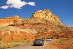 Cars on Scenic Road, Capitol Reef National Park, Utah