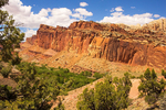 Waterpocket Fold Geologic Formation, Capitol Reef National Park, Utah