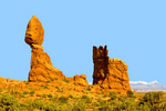 Balanced Rock Formation, Arches National Park, Colorado Plateau, Moab, Utah