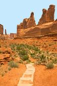 Park Avenue Trail, Park Avenue Formation, Entrada Sandstone Erosional Formation, Arches National Park, Colorado Plateau, Moab, Utahv