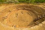 Tower Kiva, Salmon Ruins, 11th Century Chacoan Anasazi Ancestral Puebloan Ruin, Bloomfield, New Mexico