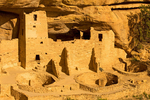 Cliff Palace Ruins, Ancestral Puebloan Cliff Dwelling, Mesa Verde National Park, Colorado
