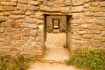 Remodeled Doorway, Ancestral Puebloan Ruins, Aztec Ruins National Monument, Aztec, New Mexico