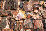 Closeup of Wall Masonry, Agate House Peublo, Ancestral Puebloan Ruin of Petrified Wood, Petrified Forest National Park, Holbrook, Arizona