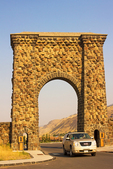 Roosevelt Arch, Yellowstone National Park, Gardiner, Montana