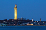 Pilgrim Monument and Museum at Night, Cape Cod, Provincetown, Massachusetts