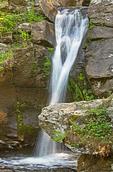 Upper Falls, Falls Brook, Kent Falls State Park, Kent, Connecticut