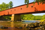 West Cornwall Covered Bridge, Lattice Truss Bridge, Housatonic River, Cornwall, Connecticut