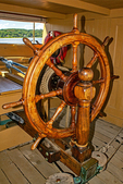 Wheel, Charles Morgan Whaling Ship, Mystic Seaport, Museum of America and the Sea, Mystic, Connecticut