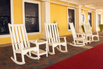 Rocking Chairs on the Porch, Lake Hotel, Colonial Revival Architecture, Yellowstone National Park, Wyoming
