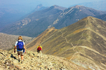 Hiking on the Avalanche Peak Trail, Absaroka Range, Yellowstone National Park, Wyoming