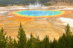 Grand Prismatic Hot Spring, Midway Geyser Basin, Yellowstone National Park, Wyoming
