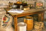 Goods in General Store, Bill Menor's House, Menors Ferry Historic District, Grand Teton National Park, Wyoming
