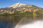 Rainbow on Jenny Lake, Grand Teton National Park, Wyoming