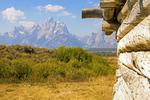 Cunningham Cabin, Teton Mountain Range, Grand Teton National Park, Wyoming