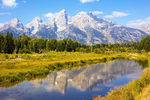Schwabacher's Landing, Snake River, Grand Teton National Park, Teton Mountain Range, Jackson Hole, Wyoming