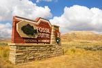 Entrance Sign, Fossil Butte National Monument, Kemmerer, Wyoming
