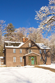 Orchard House in Winter, Home of Louisa May Alcott, 18th Century Architecture, Concord, Massachusetts