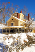 The Wayside in Winter, Hillside, Home of Nathaniel Hawthorne and Louisa May Alcott, 18th Century Colonial Architecture, Minuteman National Historical Park, Concord, Massachusetts