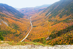 Crawford Notch from Mt. Willard in Autumn, U-Shaped Glacial Valley, Crawford Notch State Park, White Mountains, New Hampshire