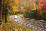 Cars Driving on Kancamagus Highway, White Mountains, New Hampshire