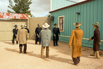 Model Demonstration of the Gunfight at the O.K. Corral, Tombstone, Arizona