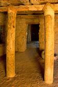 Interior Columns and Doorway, Besh-Ba-Gowah Archaeological Park, Salado Ancestral Puebloan Ruin, Globe, Arizona
