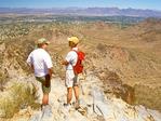 Men Talking on Piestewa Peak Summit, Hikers on Squaw Peak, Phoenix Mountains Park, Phoenix, Arizona