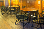 Officer's Dining Room, Berth Deck, USS Constitution, Old Ironsides, Wooden Hulled, Three-Masted Heavy Frigate, United States Navy, Freedom Trail, Boston National Historial Park, Charlestown Navy Yard, Boston, Massachusetts