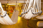 Hammocks on Berth Deck, USS Constitution, Old Ironsides, Wooden Hulled, Three-Masted Heavy Frigate, United States Navy, Freedom Trail, Boston National Historial Park, Charlestown Navy Yard, Boston, Massachusetts