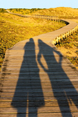 Hiker Shadows on Boardwalk, Parker River National Wildlife Refuge, Plum Island, Newburyport, Massachusetts