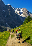 Hiker Signing the Trail Register, Hugh Norris Trail, Sonoran Desert, Saguaro National Park, Arizona