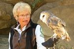 Animal Trainer and Barn Owl, Arizona-Sonora Desert Museum, Tuson, Arizona