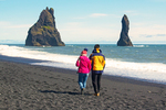 People Walking on Reynisfjara Beach, Vík í Mýrdal, Iceland