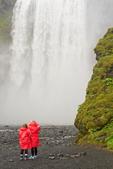 People at Skogafoss Waterfall, Skoga River, Skogar, Iceland