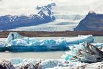 Outlet Glacier from Vatnajokull Glacier, Jokulsarlon Glacier Lagoon, Vatnajökull National Park, Iceland