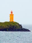 Klofningur Lighthouse, Klofningur Island, near Flatey Island, West Iceland