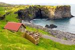 Café and Rocky Coast, Hellnar, Snaefellsnes Peninsula, Iceland