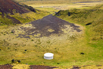 Car Driving Towards Berudalur Valley Crater, Holaholar Craters, Snaefellsjokull National Park, Snaefellsnes Peninsula, Iceland