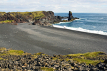 People on Djupalonssandur Beach, Snaefellsjokull National Park, Snaefellsnes Peninsula, Iceland