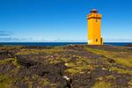 Svortuloft Lighthouse, Skalasnagaviti Lighthouse, Ondverdarnes Cape, Snaefellsnes Peninsula, Hellissandur, Iceland