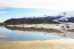 Mountain Reflections, Fjallsjokul Glacier, Outlet Glacier of Oraefajokull Glacier, Fjallsarlon Glacier Lagoon, Vatnajokull National Park, Iceland