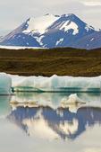 Mountain Reflections, Fjallsarlon Glacier Lagoon, Vatnajokull National Park, Iceland