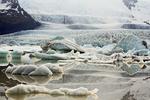 Fjallsjokul Glacier, Outlet Glacier of Oraefajokull Glacier, Fjallsarlon Glacier Lagoon, Vatnajokull National Park, Iceland