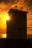 Sunset at Bjargtangar Lighthouse, Latrabjarg Cliffs, Westfjords, Iceland, Iceland