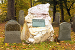 Ralph Waldo Emerson Grave in Autumn, Sleepy Hollow Cemetery, Concord, Massachusetts