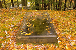 Daniel Chester French Grave in Autumn, Sleepy Hollow Cemetery, Concord, Massachusetts