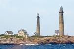 Cape Ann Light Station, Thacher Island Lighthouses, Twin Lights, New England Lighthouse, Cape Ann, Rockport, Massachusetts